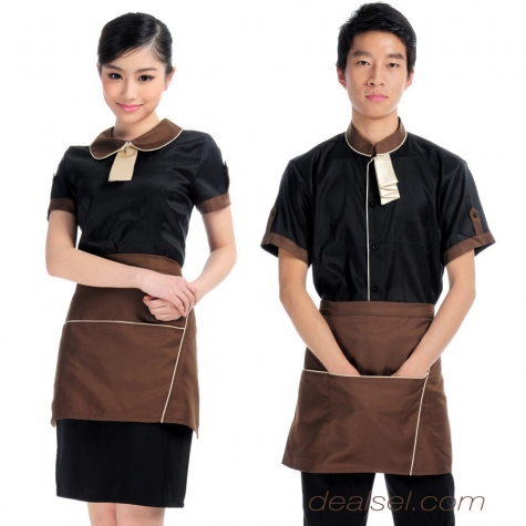 peter pan collar summer hotel staff uniform