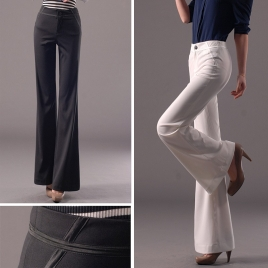 exclusive spring simple fashion flared wide leg trousers bell-bottom pants