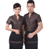 traditional design jacquard waiter waiterss uniform shirt apron