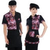 fashion paint design waiter waitress shirt workswear