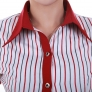 stripes fast food restaurant service staff uniform