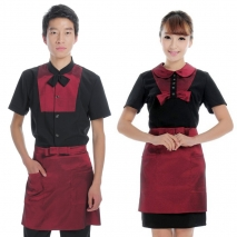 summer fine fabric hotel workswear uniform