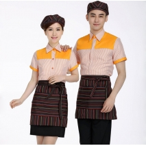 summer thin short sleeve good quality waiter uniform