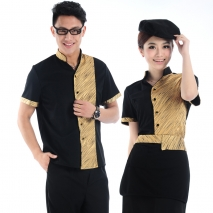 new summer thin golden fly hotel uniform shirt