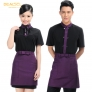 spring short sleeve vintage waiter uniform