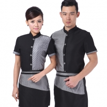 Asian style hotel coffee bar waiter shirt short sleeve