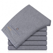 fashion Knitted linen formal men office work pant trousers