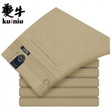 2015 summer thin cotton fabric business men's pant trousers