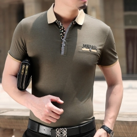 2015 summer formal business office men's short sleeve T-shirt