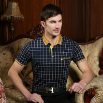 Switzerland summers gentleman middleaged polo shirts