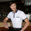 summer silky luster of mercerized cotton fabrics polo shirt men's fashion