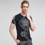 short sleeve round collar printing summer T-shirt for youths