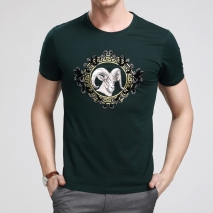 natrual cotton short sleeve youths man sheep printing T-shirt