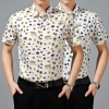 short sleeve summer insert print men shirt