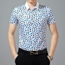 pure cotton short sleeve round dot print