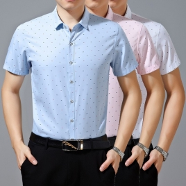 mercerized cotton fabrics short sleeve boss shirt