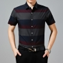 wide stripes summers casual men shirt