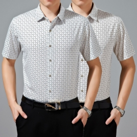 ring print great fashion men casual shirt wholesale