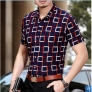 superior quality short sleeve men's printing shirt