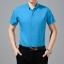bright color fashion mercerized cotton fabrics men's short sleeve shirt