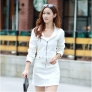 skinny sexy long sleeve zipper pocket denim women's jumpsuits rompers dress