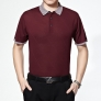 2015 summer cool knitting mulberry silk elder men T-shirt