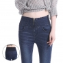 high quality america style sexy fit argyle wide waist denim women's jeans pant