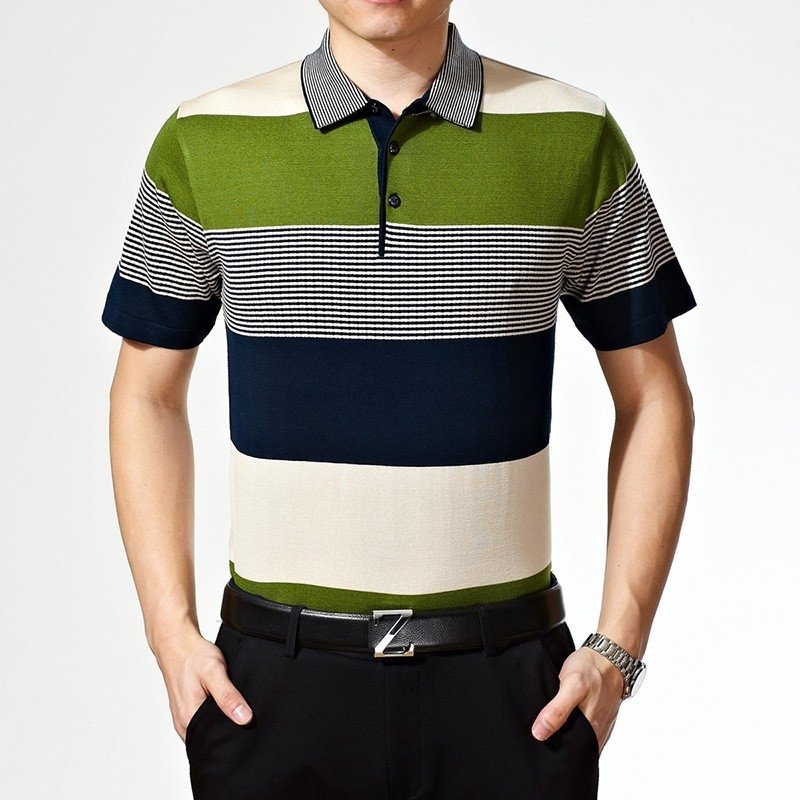 Good quality summer olive pocket men polo t shirt tianex for Polo t shirts with pockets