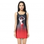 summer dance girl printing women long design tank tops dress