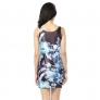 summer floral printing Europe women tops dress