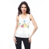 Vogue cartoon letter printing women camisole tops