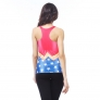 summer design thin stars printing women tank tops
