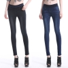 elastic sexy waist with pocket autumn winters women lady's jeans pant trousers