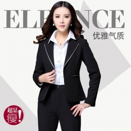 notch collar fashion long sleeve women pant suits