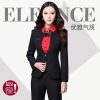 collarless spring business pant suits for women