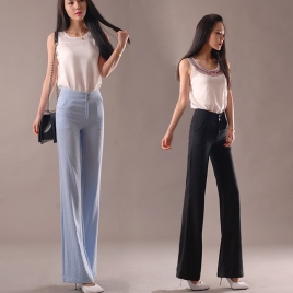 summer comfortable breathable women flare pant trousers