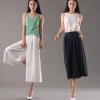 casual loose ultra wide leg women pant trousers