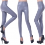 fashion high waisted improve quality PU leather skinny  women's leggings pants
