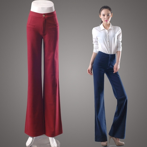 2015 new fashion office style  young lady bell bottom pant,flare jeans