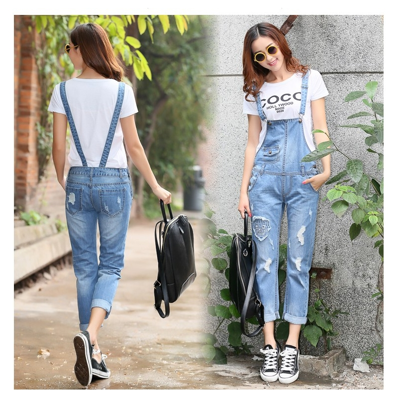 Free Shippng New Rompers Women Jumpsuit Fashion Loose Overall