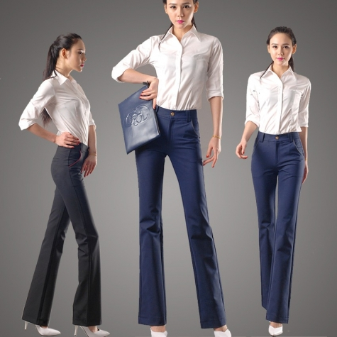 autumn women fashion design pant,women trousers bootcut