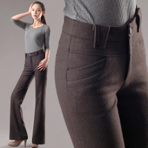 winter women fashion woolen pant,flare trousers formal design