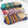 knitted jacquard pattern casual thicken men's cotton socks