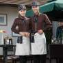 Europe restaurants coffee bar waiter waitress uniform wholesale