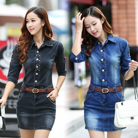 5d2cde87afdf Korea half sleeve skull Embroidery denim women s jumpsuits rompers dress