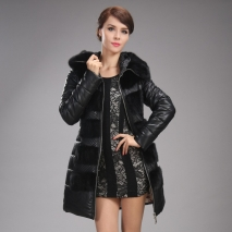 Europe winter 90% duck down vogue mink collar coat female women coat