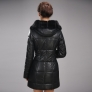 fashion Russian duck down Mink collar zipper hooded winter women's coat