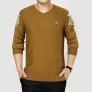 tiger pattern knitted V collar men's t-shirt sweater