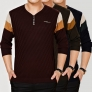 v-collar casual fashion men's thin T-shirt