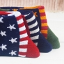 five-pointed star jacquard sock thick men's short socks